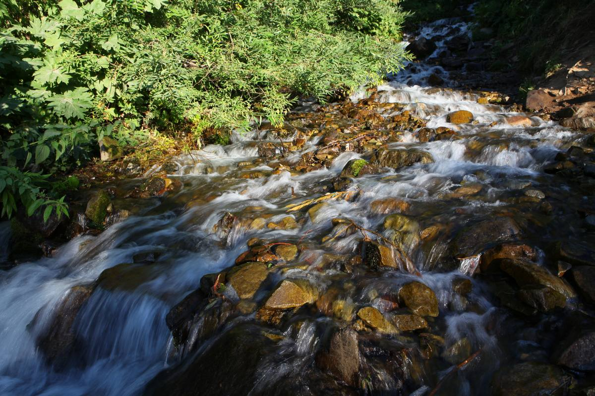 Зимний путь к водопаду
